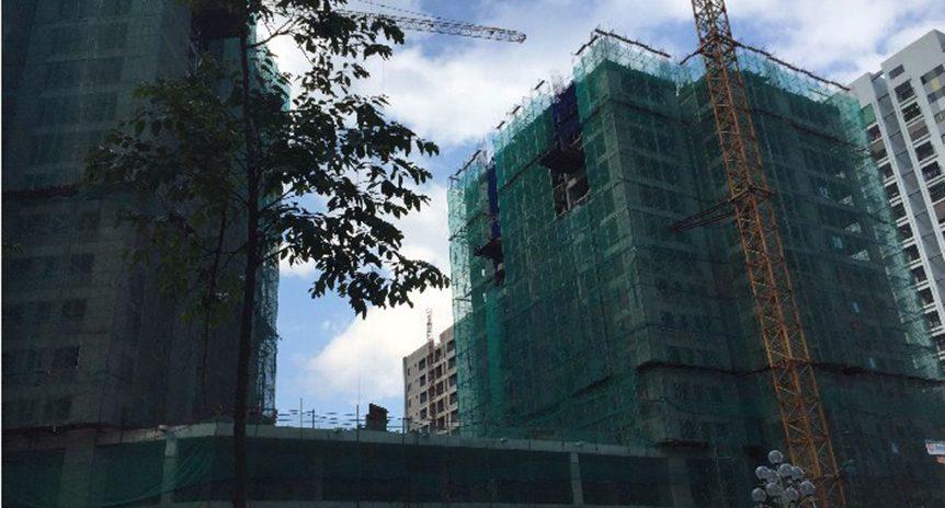 CẬP NHẬT TIẾN ĐỘ CHUNG CƯ HUD2 – TWIN TOWERS, TÂY NAM HỒ LINH ĐÀM ĐẾN NGÀY 28/6/2016