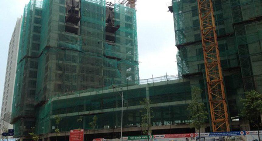 CẬP NHẬT TIẾN ĐỘ CHUNG CƯ HUD2 – TWIN TOWERS, TÂY NAM HỒ LINH ĐÀM ĐẾN NGÀY 8/6/2016
